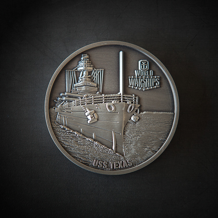 Grab a USS Texas Challenge Coin | World of Warships