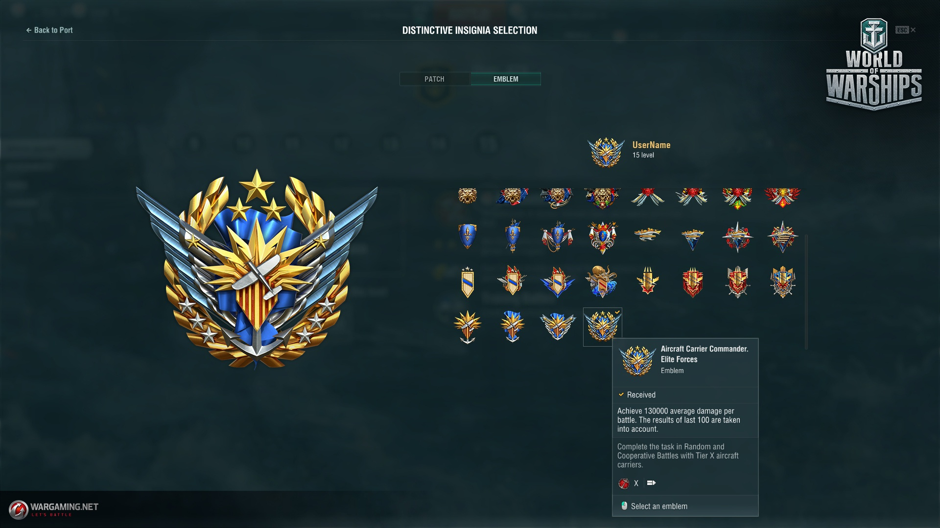 requirement of emblem - general game discussion